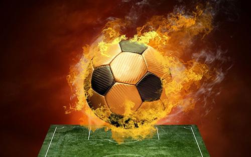 燃えるボール